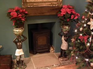Large pair blackamoor figures