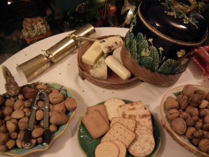 Wedgwood cheese dome and stand, George Jones squirrel nut dish, and two majolica plates