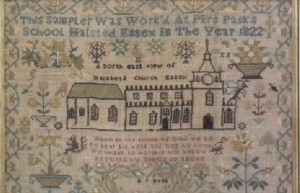 Halstead Essex Church sampler 1822