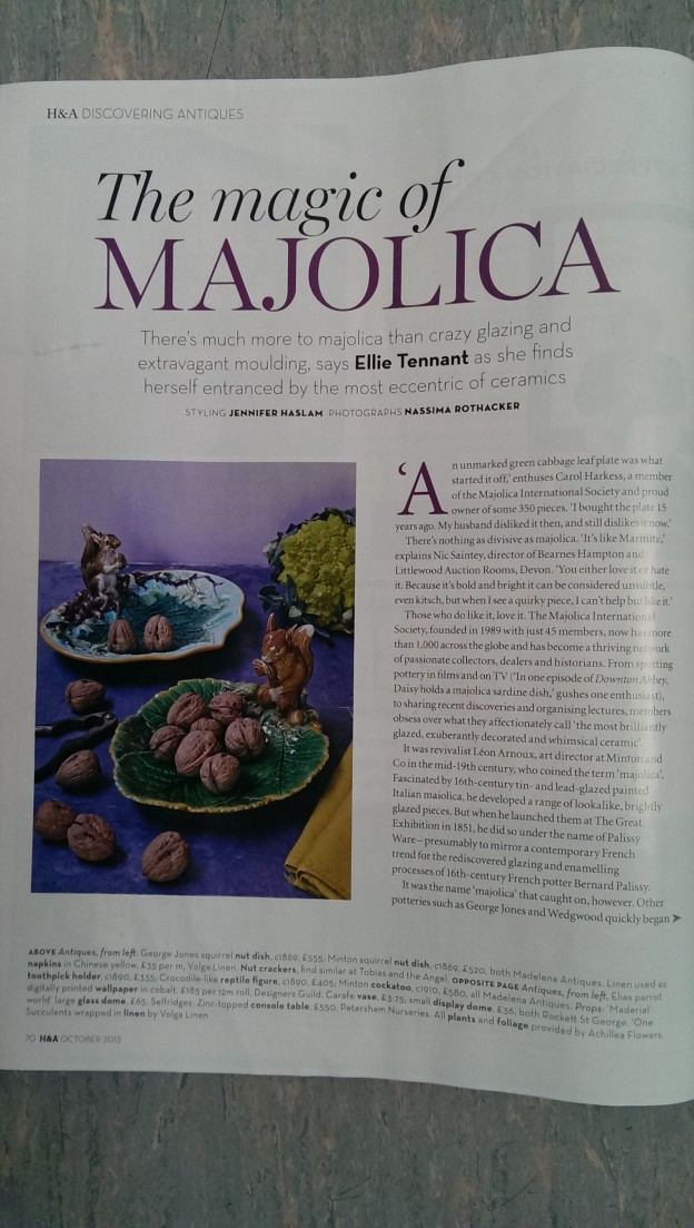 Majolica Magic in Homes & Antiques