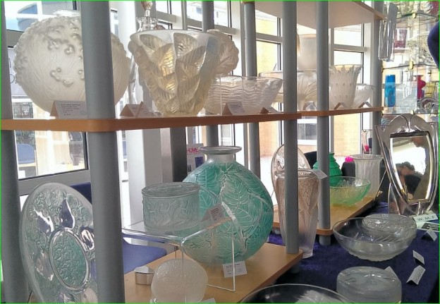 R. Lalique glass at Glass Fairs
