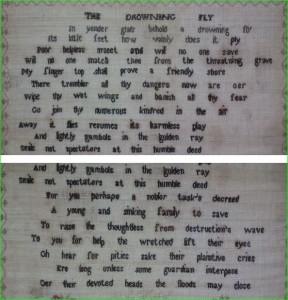 Unusual 1820 verse sampler