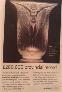 Record price for R Lalique vase