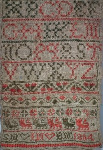 Scottish Samplers red and green thread only