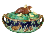 George Jones Majolica Game Pie Dish