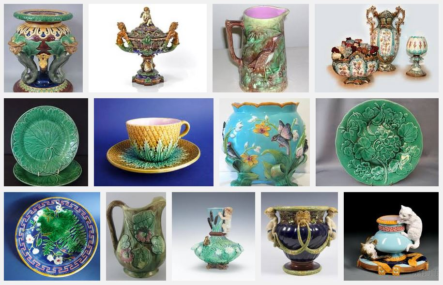 Victorian Majolica definition Google images search