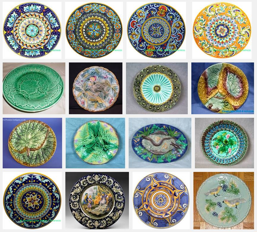 majolica plate - google search results