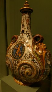 Urbino ware, as opposed to victorian majolica pottery