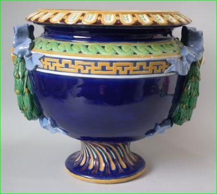 Minton Victorian Majolica Pottery Jardiniere