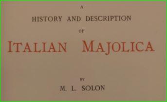 Solon 1907 History of Majolica