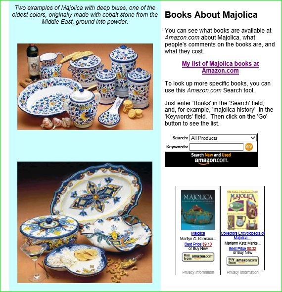 'Clever' website searches for MAIOLICA books and finds all our books on Victorian Majolica
