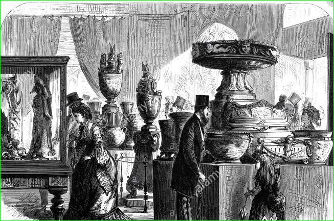 Industry of All Nations Exhibition, 1851. Is this the Minton stand?