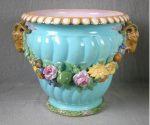 Majolica/ Maiolica Minton Jardiniere, quiet tone of colour? Illustrated