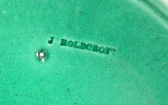 Majolica maker's mark J Holdcroft.