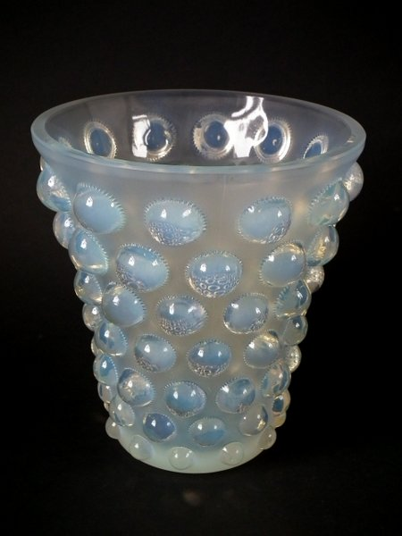 'Bammako', introduced 1934, opalescent glass vase, with maker's marks