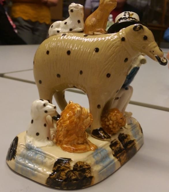 Antique Staffordshire Pottery Lion
