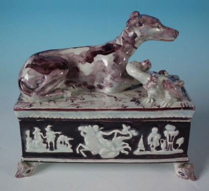 Antique Victorian Staffordshire Pottery Dogs