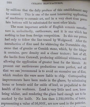 """""""Lead is very little used now"""", Arnoux, 1853"""