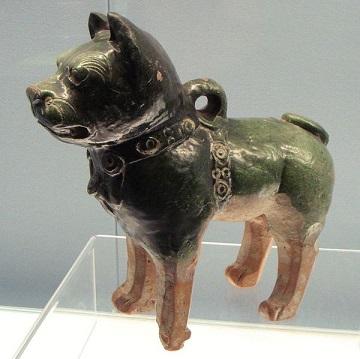Coloured lead glaze, China circa 200AD