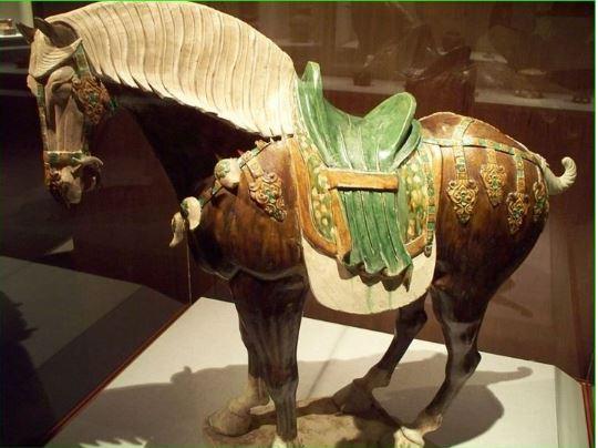 Three colours, Sancai, China circa 600AD